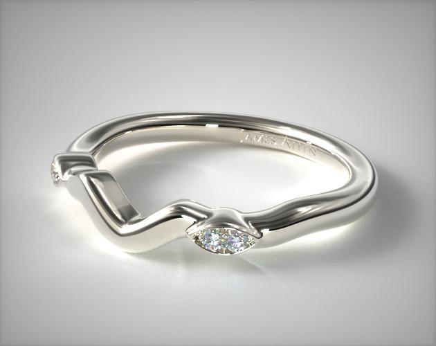 twisted vine wedding ring
