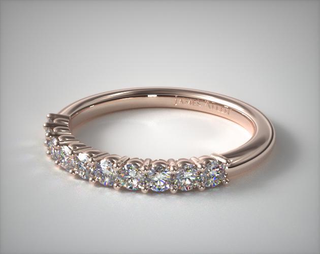 14K Rose Gold Prong Set Diamond Wedding Ring (.30 CTW.)