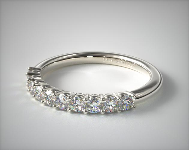 Platinum Prong Set Diamond Wedding Ring (.30 CTW.)