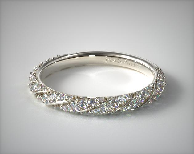 Twisted Pave Wedding Ring 18k White Gold James Allen