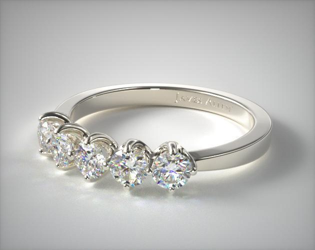 products img diamond rings five ring tapered collections all perlis engagement sarah jewelry