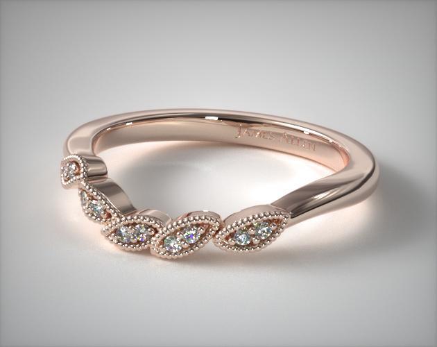 14K Rose Gold Entangled Vines Matching Wedding Ring