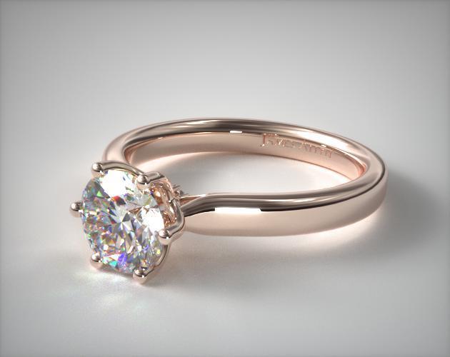 14K Rose Gold Intricate Basket Engagement Ring