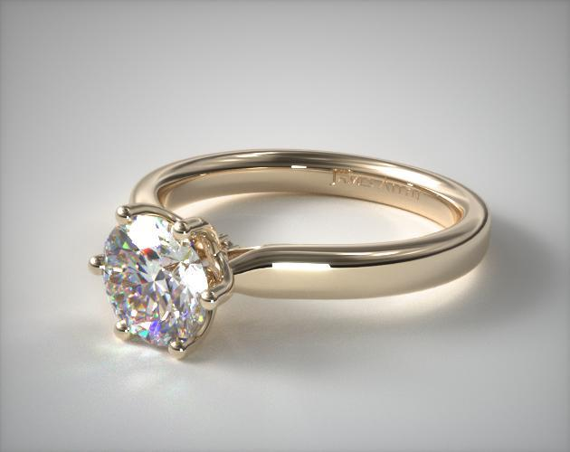 14K Yellow Gold Intricate Basket Engagement Ring
