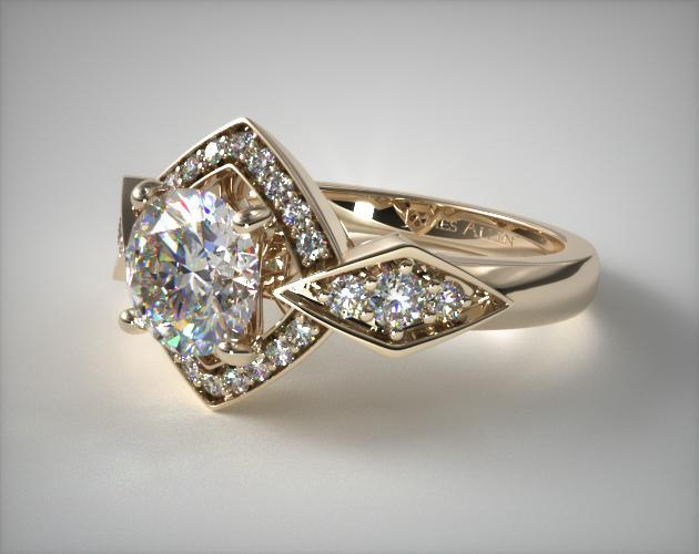 design product ars rings rose regal engagement ring looks curved yellow gold jewellery