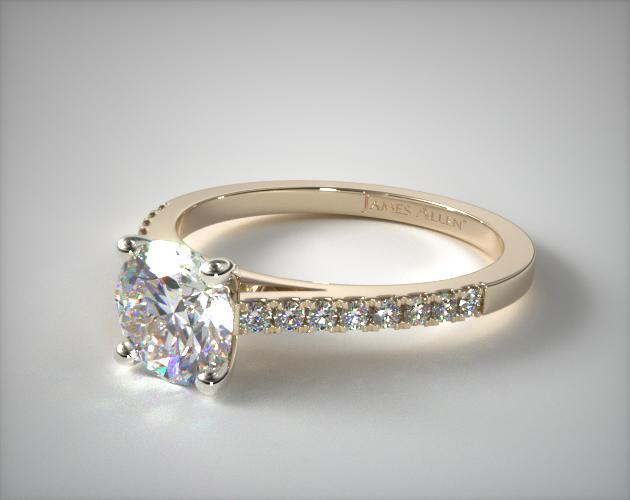 engagement square gold halo front rings diamond ring white