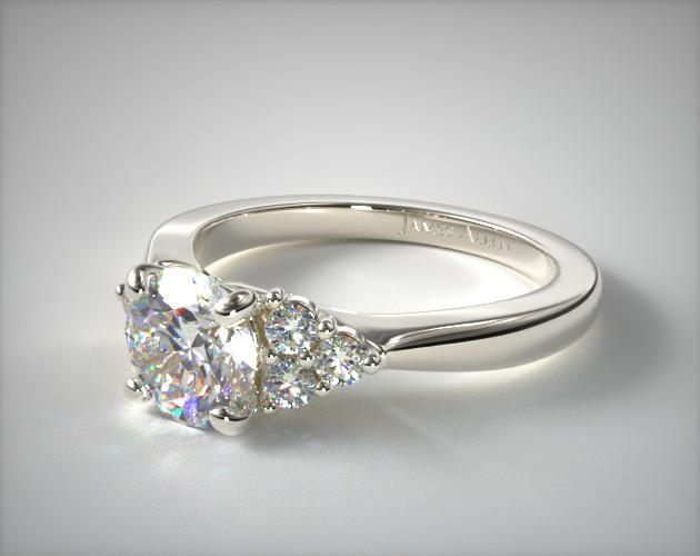 engagement diamond with ct halo rings side ring tw white pin top gold stones