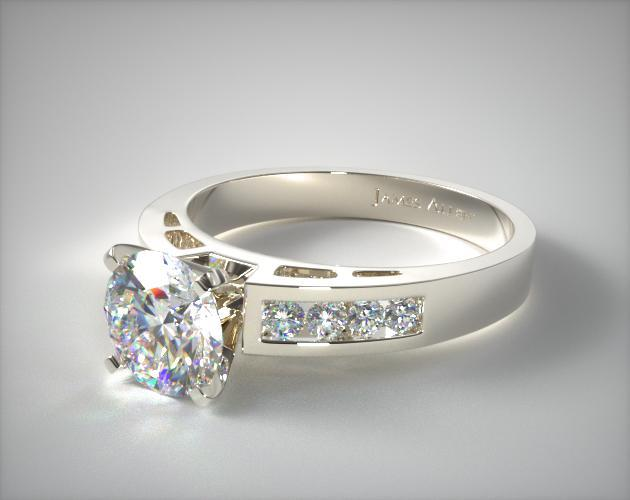 18K White Gold 0.35ct Channel Set Diamond Engagement Ring