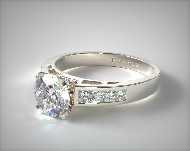 18K White Gold 0.42ct Channel Set Diamond Engagement Ring