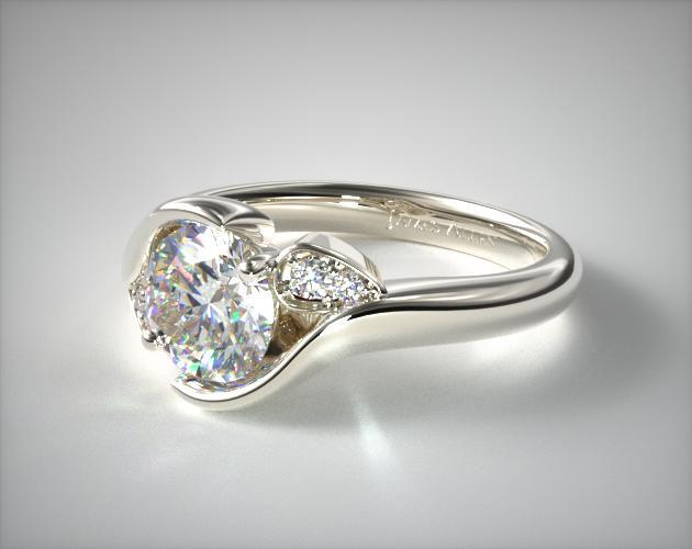 bands designer lyria ring design platinum band wedding in diamond parade leaf leaves by rings