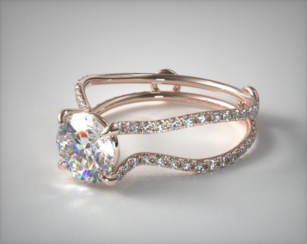 14K Rose Gold ZE122 Designer Engagement Ring by Danhov