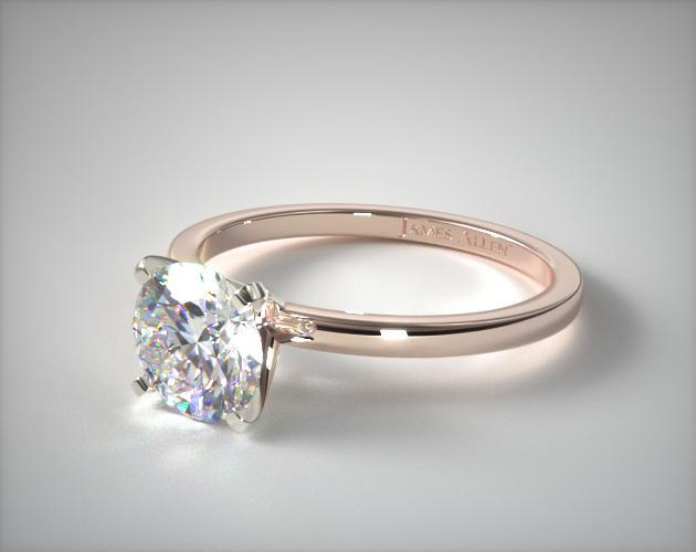 14K Rose Gold 1.5mm Comfort Fit Engagement Ring