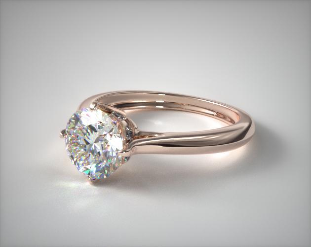 14K Rose Gold Compass Point Engagement Ring