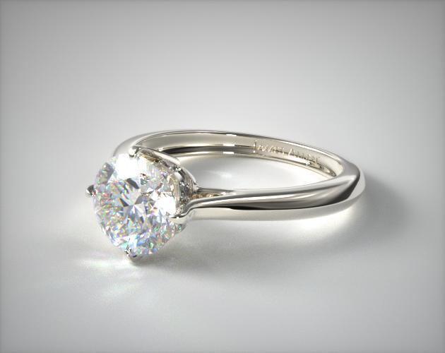 18K White Gold Compass Point Engagement Ring