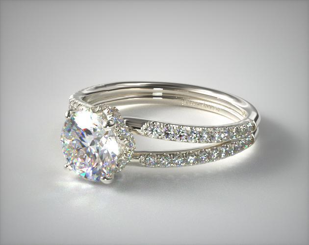 e526ba8891baf Split Shank Ribbon Engagement Ring