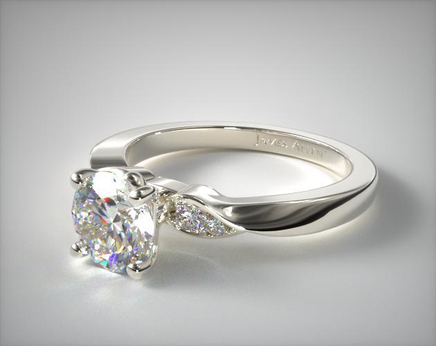 Platinum Blossoming Vine Engagement Ring