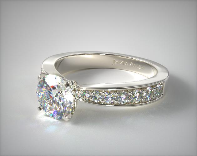 14K White Gold Perfect Pave Engagement Ring