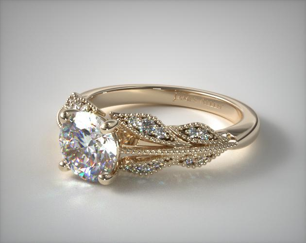 Engagement Rings Vintage 18k Yellow Gold Vintage