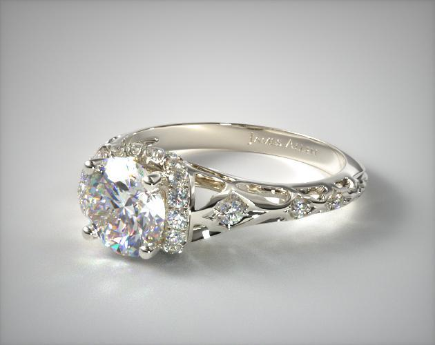 through james filigree by finger rendering cad diamond allen view engagement rings vintage filligree sku ring