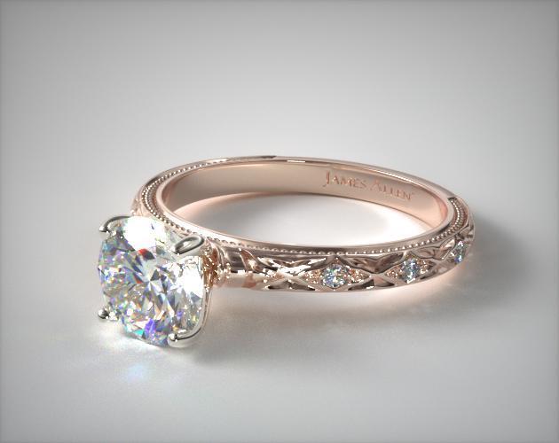 14K Rose Gold Blossom Engagement Ring