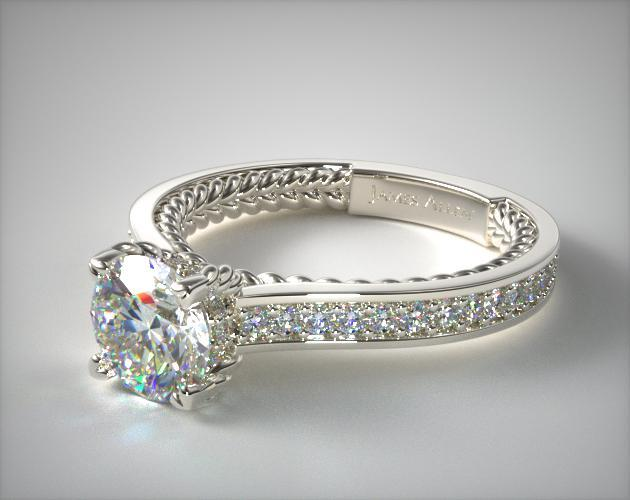 diamond product in normal cable alor gray station ring engagement lyst charriol rings jewelry circle circlestation