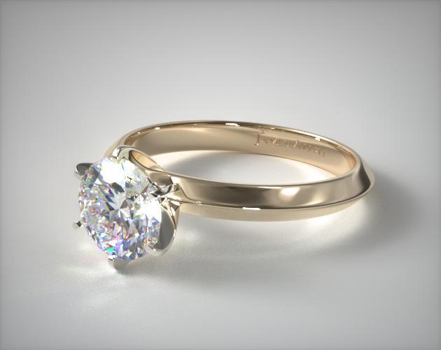 18K Yellow Gold Presentation Solitaire (Six Prong)