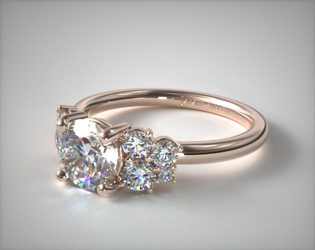 14K Rose Gold Diamond Medley Engagement Ring