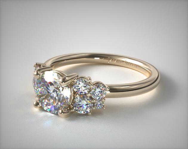 14K Yellow Gold Diamond Medley Engagement Ring