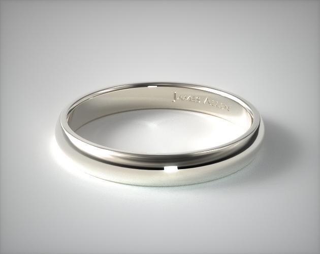 wedding stats alternative milgrain rings domed comfort view white gold mm polished band p fit quick finish with