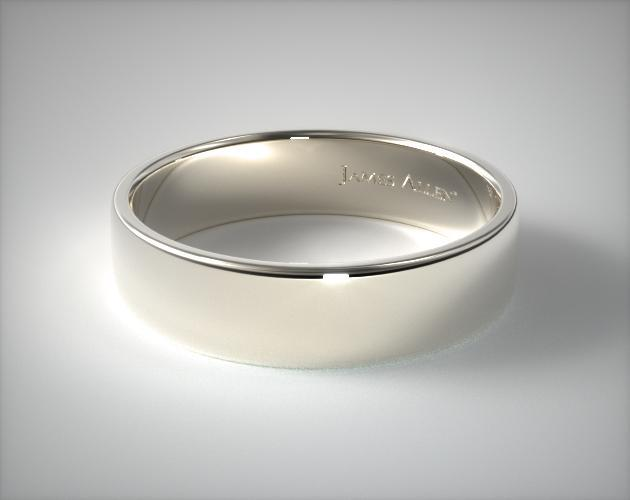 Palladium 6.5mm Slightly Flat Comfort Fit Wedding Ring
