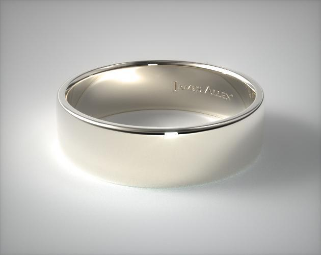 Palladium 7.5mm Slightly Flat Comfort Fit Wedding Ring