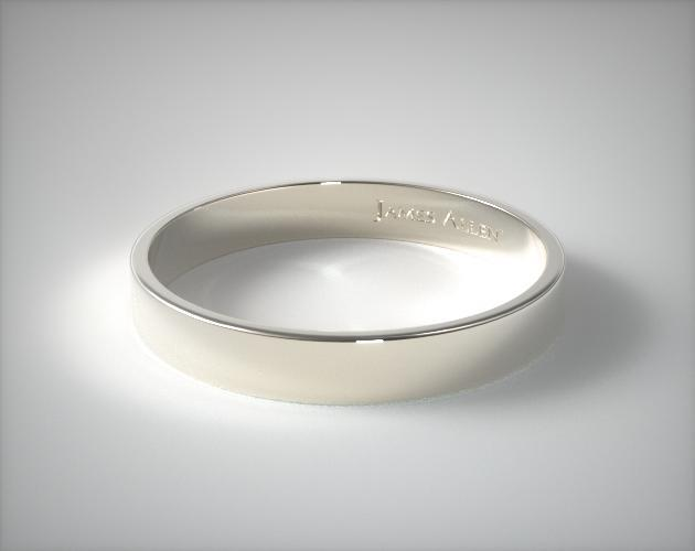 Platinum 4mm Flat Comfort Fit Wedding Ring