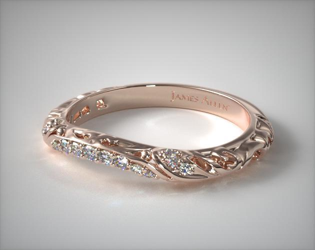 Rose Gold Wedding Ring | Matching Wedding Band 14k Rose Gold James Allen 25540r14