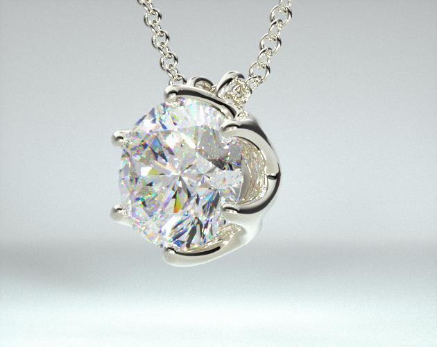 Platinum Scallop Basket Diamond Pendant (.50 CTW.)