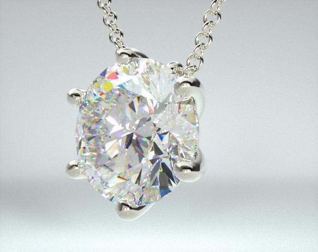 14K White Gold Wire Diamond Pendant (Mounting)