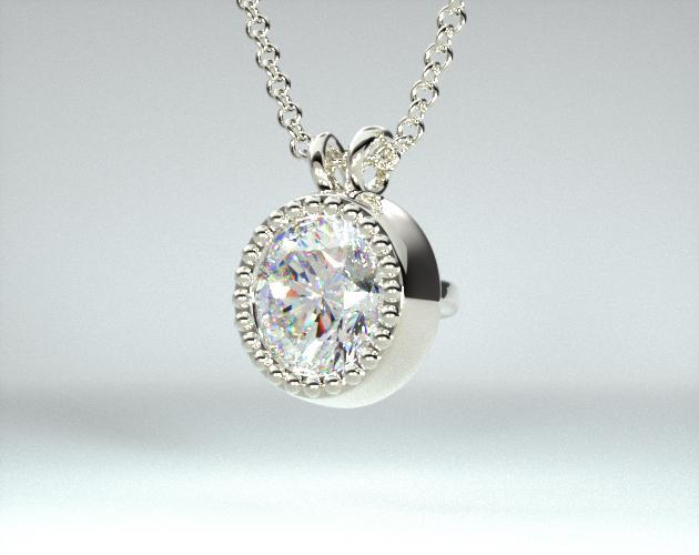 14K Yellow Gold Milgrain Bezel Diamond Pendant (0.33 CTW.)