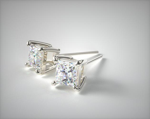 18K White Gold Diamond Stud Earrings (0.25 CTW.)