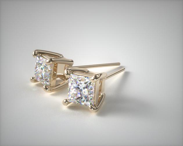18k Yellow Gold 0.25ctw Diamond Stud Earrings