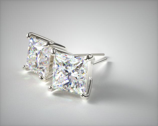 Platinum Diamond Stud Earrings (0.50 CTW.)