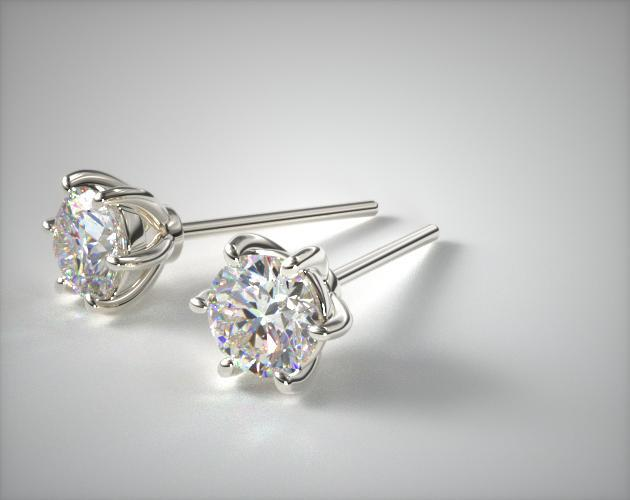 14K White Gold Wire Basket Diamond Earring (0.33 CTW.)