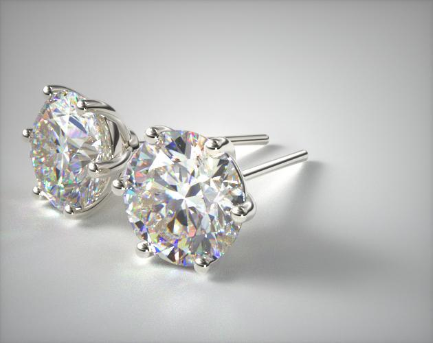 Fine Jewelry Design Your Own Studs Platinum Wire Basket