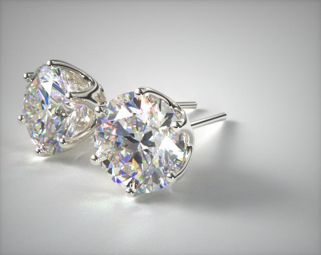 of princess pair jewellery diamond in cut beautiful a engagement gold white earrings