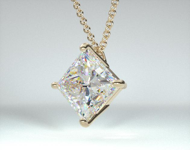 18K Yellow Gold 4 Prong Wire Basket Pendant (Mounting)
