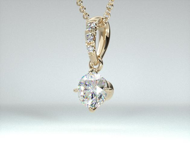 18K Yellow Gold Pave Bail Diamond Pendant (0.25 CTW.)