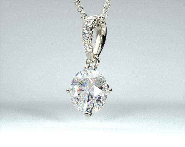 Platinum Pave Bail Diamond Pendant (.50 CTW.)