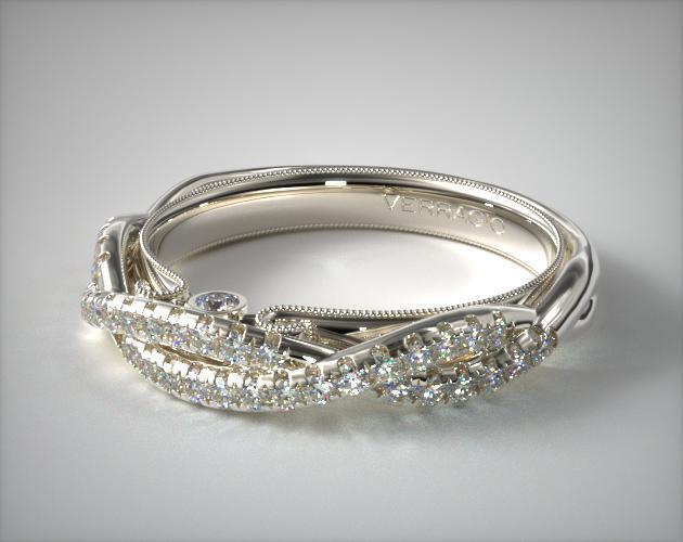 14K White Gold Classic Wedding Band by Verragio