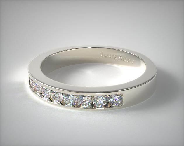 Platinum Round Shaped Diamond Wedding Ring (.49 CTW.)