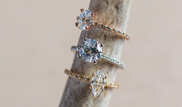 Thin French-Cut Pave Set Diamond