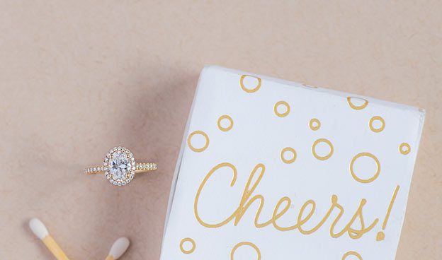 Pave Oval Halo Ring