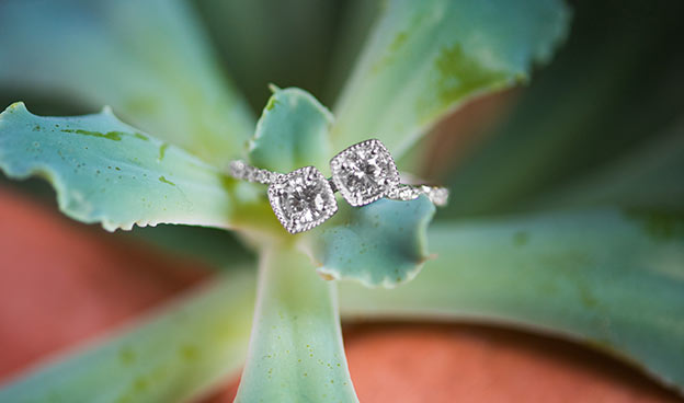 Two Stone Cushion Outline Ring
